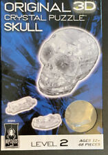 Bepuzzled Clear CRYSTAL SKULL 3D Crystal Jigsaw Puzzle 48 Pc Level 2 Unopened