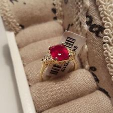 Zircon Ruby Sterling Silver Fine Rings