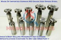 10 Pieces HSS Woodruff Key Cutters Set Made Of German Imported M2 Grade HSS