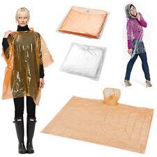 Poncho Impermeabile Monouso Trasparente Tascabile con Cappuccio Pioggia Custodia