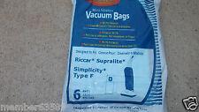 vacuum bag fit Riccar Supralite Simplicity Freedom style F F3500 RSL1