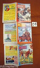 LOTTO 3 Albi Albo Capitan Miki a colori originali  dal 1963 al 1964 n 59 60 93