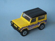 Matchbox Land Rover 90 Defender Mountain Trails Yellow Body Toy Model Car