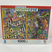 Steve Skelton Tooniverse Puzzle Ceaco 1000 Piece Jigsaw 3206-1 One Sealed Half