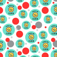 Punch The Clock Funny Humor Premium Gift Wrap Wrapping Paper Roll