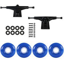 SKATEBOARD PACKAGE Havoc Black 5.0 Trucks 52mm True Blue Abec 7 Bearings