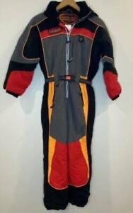 Obermeyer OBX Gray/Red/Black Youth Boys Ski Suit Size 8 Grow Sleeve & Pants EUC