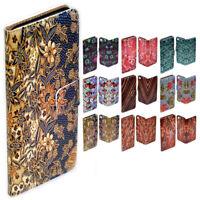 For Apple iPhone Series Case - Batik Print Flip Wallet Phone Case Cover
