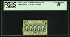 1862-63  50 CENT FRACTIONAL CURRENCY FR-1312 CERTIFIED PCGS CHOICE ABOUT NEW 55