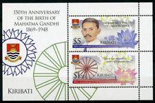 Kiribati 2019 MNH Mahatma Gandhi 2v M/S Famous People Historical Figures Stamps