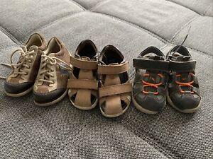 3 Paar Kinderschuhe Sandalen Paket Pepino Und Ecco Gr. 23 Baby Schuhe