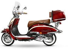 Motorroller Retro Roller Motorrad 125 CCM-80 KmH rot/beige EasyCruiser ARTEMIS