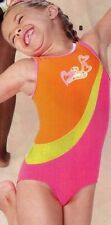 Nwt Axis Gymnastic Neon Brights Girls Leotard Hearts sequin accent Acro