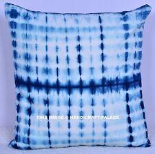 "Indigo Blue Cushion Cover Tie Dye Print Home Decor Throw Cotton Pillow Sham 18"""