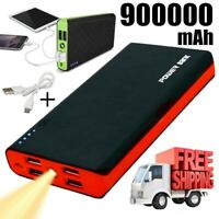 2020 New 4USB Portable Power Bank 900000mAh External Backup Battery Pack Charger