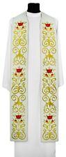 Cream Gothic Clergy Stole SH694-K Vestment Crème Étole Creme Stola Crema Estola