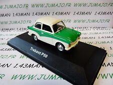 DDR2 voiture RDA 1/43 test Allemagne TRABANT P50 verte green