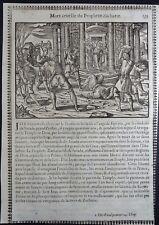 Gravures sur bois Woodcut print Jean Cousin Figures de la Sainte BIBLE Folio 139