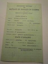 SCHEDA MILITARE REGIO ESERCITO GARESSIO SERGENTE G.A.F. ARTIGLIERIA C10-218