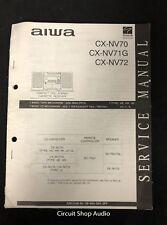 Original Aiwa Cx-Nv70 / Nv71G / Nv72 Cd Cassette Stereo Receiver Service Manual