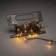KONSTSMIDE Micro LED Lichterkette, inkl. Aufrollhilfe, 80 LEDs bernstein, 24V Au