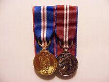 Queens Golden and Diamond Jubilee Miniature Medal Mounted QGJM QDJM