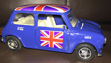 TOY MODEL OLD SHAPE BLUE MINI COOPER 550 CAR UNION JACK  11 cm WELLY