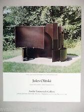 Jules Olitski Art Gallery Exhibit PRINT AD - 1989 ~~ Oranto