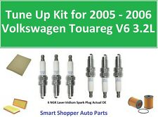 Tune Up for 2005 2006 Volkswagen Touareg 3.2L Oil Filter, Air Cabin Filter Spark