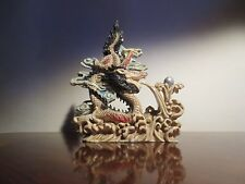 White Chinese Dragon Statue from China circa 1980