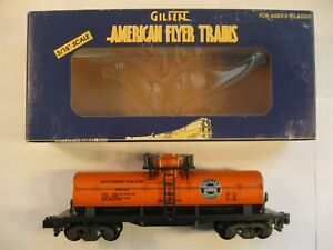 """American Flyer 6-48212 """"SOUTHERN PACIFIC"""" TTOS 1999 TANK CAR """"NEW"""" in ORIG BOX"""