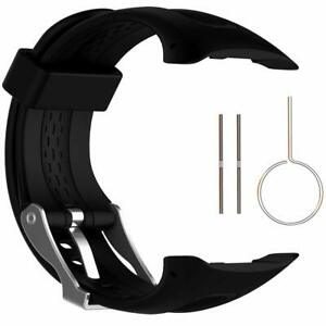 Band for Garmin Forerunner 10/15 Silicone Replacement Watch Band Strap Black