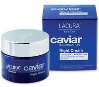 USA* AMAZING! LUXURY Caviar Face Cream NIGHT Lacura 50ml 1.7oz Anti-Aging Sealed