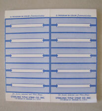"10 Sheets of Jukebox Title Strips: 10 Strips on Sheet 1"" x 3"" Strips 100 labels"