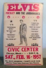 1957 Elvis Presley & Jordanaires Concert Poster Civic Center Chicago