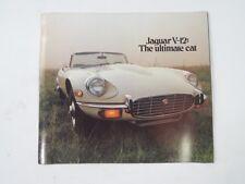 Jaguar E-Type V12 Series 3 Sales Brochure