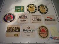 Lot 10 Dessous Bière Tous Plusieurs - Beer Coasters Mats Compact Sac