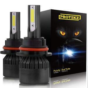 9006 LED Headlight Bulbs HB4 6000K Cool White ZES Chips Conversion Kit Plug&Play