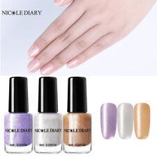 NICOLE DIARY 3Bottles 6ml Peel Off Nail Polish Silver Purple Glitter Nail Varnis