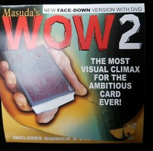 Magic Trick - Masuda's WOW2 - Face Down Version - Red Bicycle - Card Magic DVD
