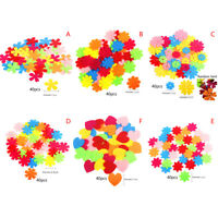 About 40pcs/set Non-woven Patch Handmade Puzzle Material Kids Craft DIY Suppl Yf