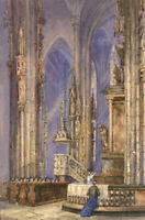 Mid 20th Century Watercolour - Prayers