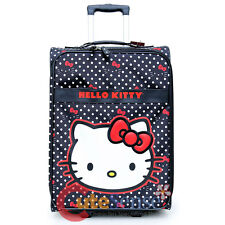 "Sanrio Hello Kitty Luggage 20"" Polka Dots Rolling Suit Case Trolley Bag"