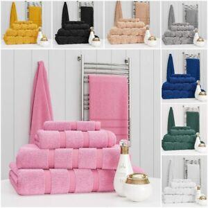 Towel Set 100% Cotton Face Hand Bath Towels Bale 500 GSM Bathroom 6 Piece Sets
