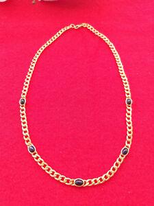 collier 750/000 mit 5 Saphir Cabochon Länge 42 cm, 16,25g