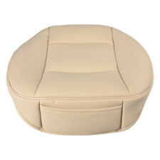 PU Leather Deluxe Car Driver Seat Cover Pad Protector Cushion Universal Beige WA