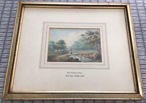 Attributed to WILLIAM PAYNE (1760-1830) ANTIQUE WATERCOLOUR Near Galinton, Devon