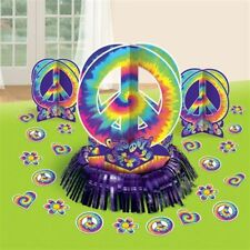 GROOVY 1960's TABLE DECORATING KIT 60's Hippie Party Centerpiece Decorations