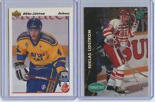 1991 Upper Deck and Pro Set Niklas Lidstrom 2 Rookie Card Lot