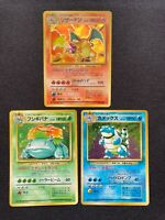 Pokemon Cards Charizard Blastoise Venusaur Base Set Holo Rare Japanese No.006
